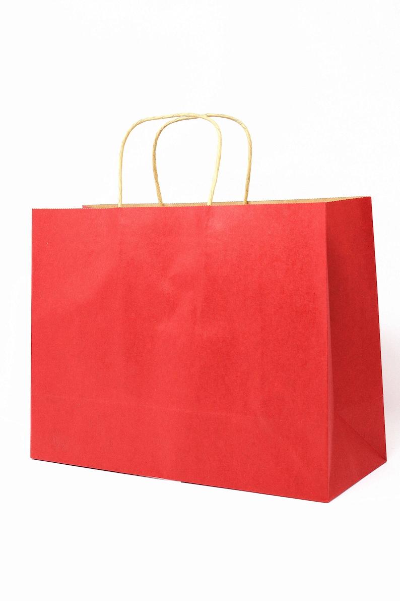 Set of 100 Artisen Monocolor Kraft Paper Bags