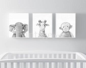 nursery animal print etsy