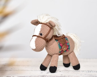 Crocheted horsecustom horse plushiesgreat gifts for horse lovers15 crocheted horse dollhave YOUR beloved horse recreated in yarn!