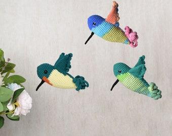 Hummingbird Amigurumi , Crochet bird,  Stuffed Crochet Handmade Decorative Bird ,New Year bird lovers