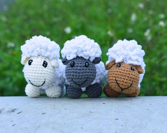 Cute Sheep Stuffed Crochet Amigurumi - White Lamb Gift - Custom Sheep Color - Best Gift For Your Friend