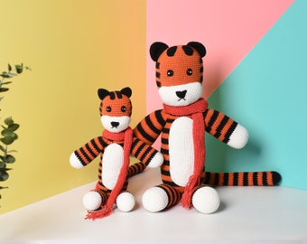 Hobbes Tiger Plush Crochet, Amigurumi Tiger, Crochet Hobbes, Handmade Stuffed Tiger - Best Gift For Kids