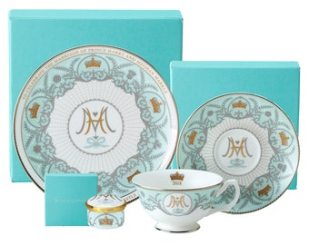 Royal Wedding Commemorative Tea Set, Plate, Pillbox - Collector's Item - Made in England
