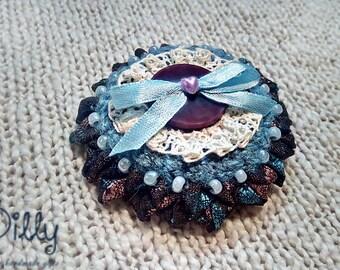 "Vintage brooch ""Blueberry"""