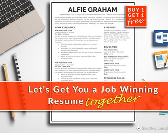 Resume Template Professional Resume Template Instant Download Modern Resume Template CV Template CV Design Free Resume Template Word + Mac