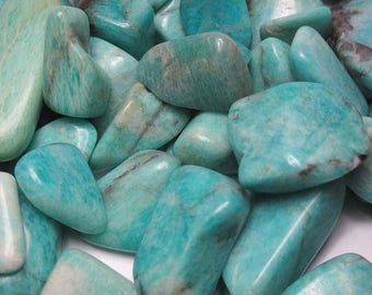 Amazonite Tumbled Stone | Wiccan | Healing Stone | Feng Shui | Metaphysical Shop | Altar Stone | Tumbled Amazonite | Peaceful Transition