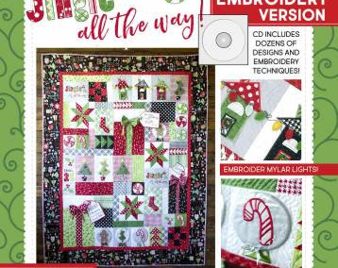 Featured listing image: KimberBell Jingle All The Way - Machine Embroidery software - 1 pkg. of paper tape included FREE
