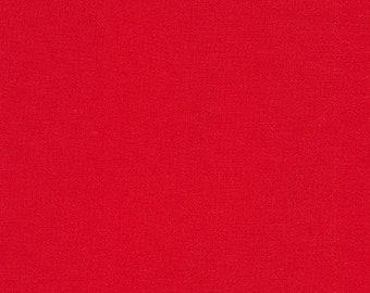"KONA  RED by Robert Kaufman - 100% Cotton 44"" wide"