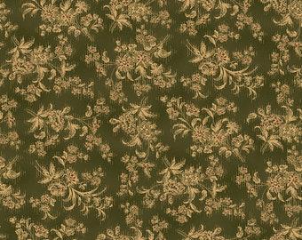 "Farmhouse Christmas - Green Stylized Floral - Kim Diehl 44"""