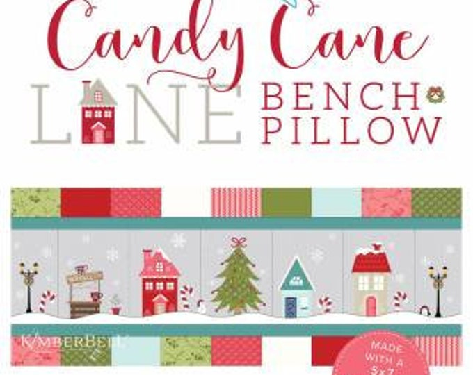 Featured listing image: Candy Cane Lane Bench Pillow Machine Embroidery Version - Kimberbell