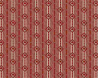 """Repro Red (R3117 Red) - Lottie's Lines - Sheryl Johnson 44"""""""
