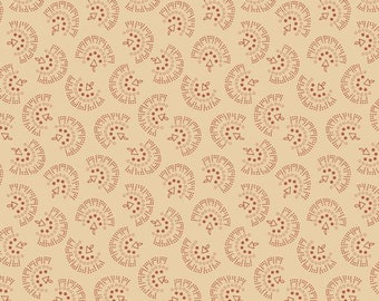 """Repro Red (R3115 Cream) - Flossie's Fans - Sheryl Johnson 44"""""""