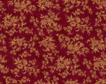 "Farmhouse Christmas - Red Stylized Floral - Kim Diehl 44"""