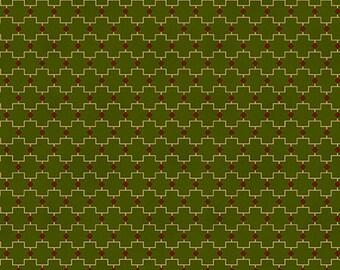 "Farmhouse Christmas - Green Geometric - Kim Diehl 44"""