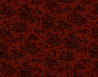 "Farmhouse Christmas - Red Toile - Kim Diehl 44"""