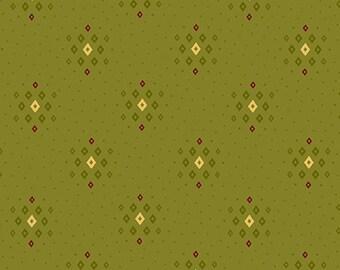 "Farmhouse Christmas - Green Tonal Diamond Clusters - Kim Diehl 44"""