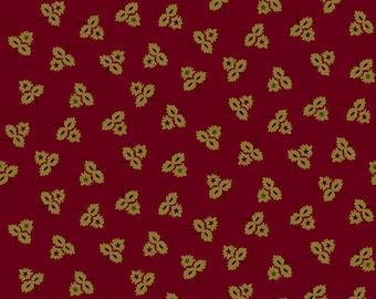 "Farmhouse Christmas - Red Three Leaf Clusters - Kim Diehl 44"""