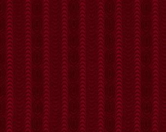 "Farmhouse Christmas - Red Moire Stripe - Kim Diehl 44"""