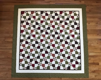 """102"""" x 102"""" Hunter Star Quilt - Large Queen or King - Shams and Throw covers included"""