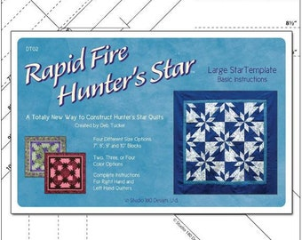 Deb Tucker's Rapid Fire Hunter's Start Large Star Template - Studio 180 Design