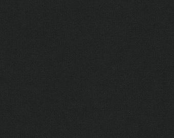 "KONA  BLACK  by Robert Kaufman - 100% Cotton 44"" wide"