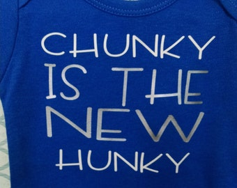 Soft cotton onesie for a baby boy who is chunky and absolutely adorable.  Perfect gift for a new baby.
