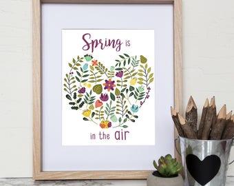 "Instant print - Art Print ""Spring is in the air"" Frame art-flowers-digital download-wall art"