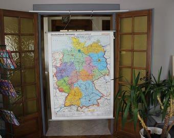 Map / Vintage school poster * Deutschland / Germany