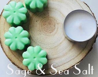 Sage & Sea Salt Soy Wax Melts - Maximum Scent - Pack of 4