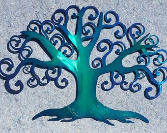 Swirly Tree Art Large