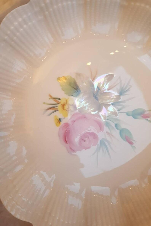 Limoges Swirl Hand Painted Wedding plate \u00f822cm