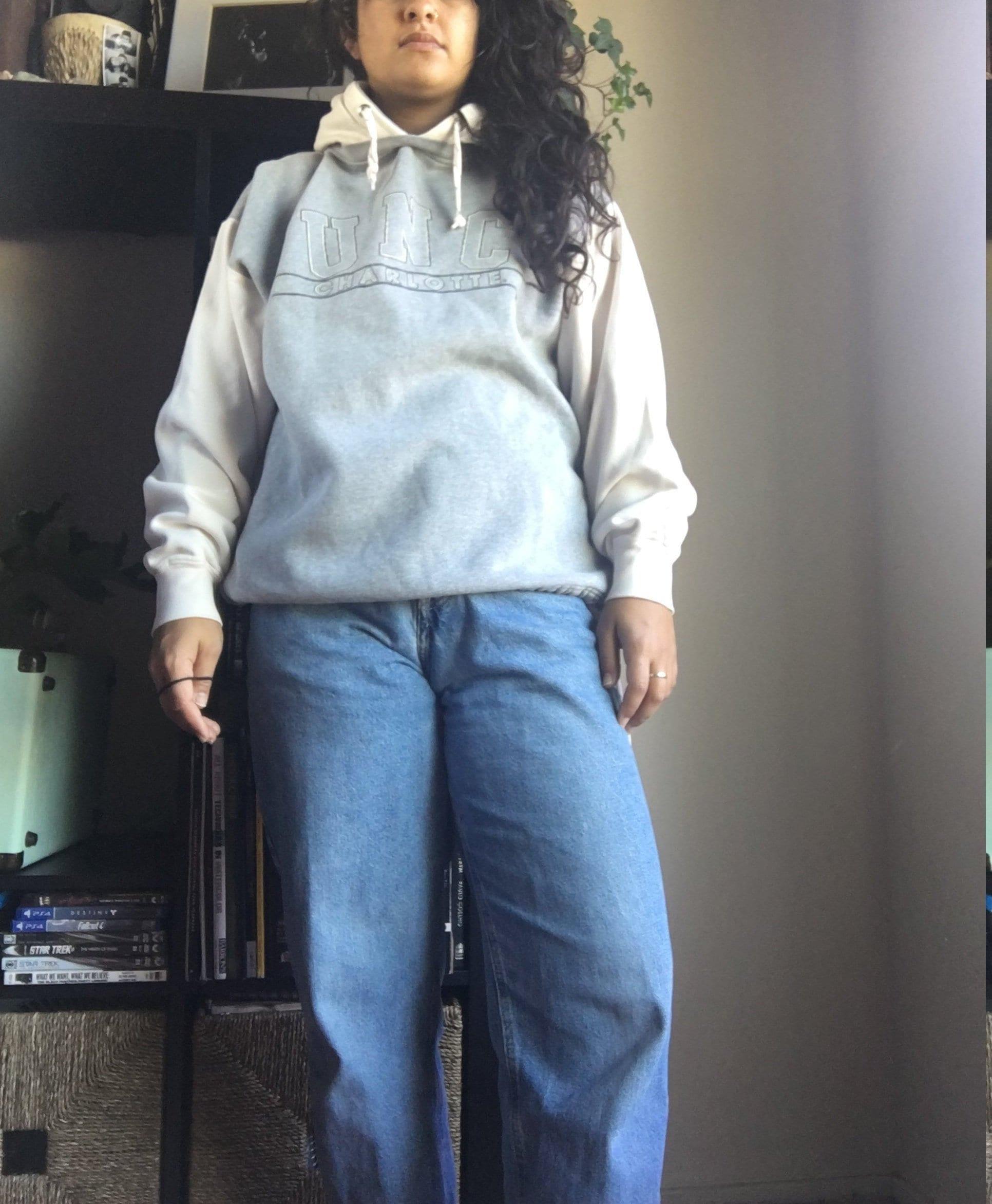 School Spirit Sweatshirt Grunge University of North Carolina at Charlotte Girls Zipper Hoodie
