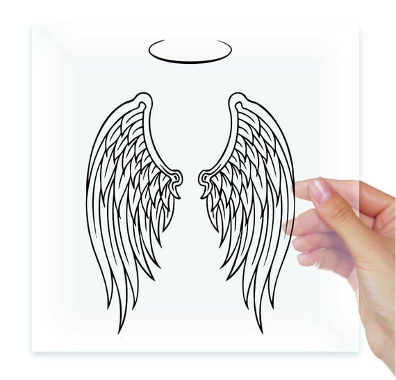 """Angel Wings Funny JDM Vinyl Decal Sticker Car Window laptop tablet bumper 8/"""""""