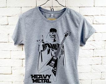 Star Wars Darth Vader Schwermetall Cool grau T-Shirt für Frauen