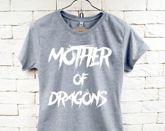 Mutter des Drachen Motto Cool Gray-t-shirt für Frauen
