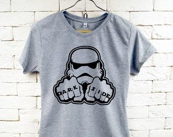 STAR WARS-dunkle Seite Stormtrooper Cool Grau T-Shirt für Frauen