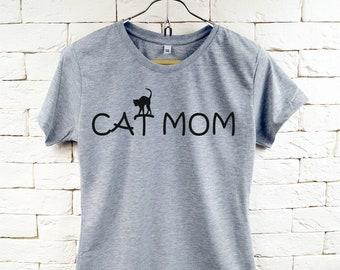 CAT MOM Cool Grau T-Shirt für Frauen