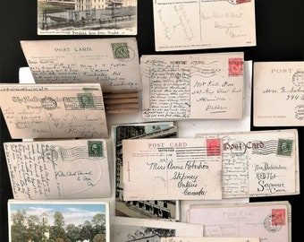 Antique Postcards. Ephemera. Period Early to mid 20th century. In packs of 5 or individually