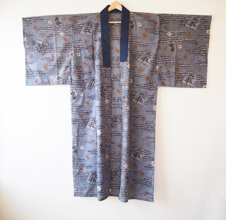 Kimono Underwear Kimono Vintage Mens Nagajuban FREE tracking Vintage Nagajuban