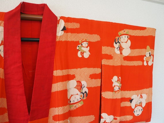 Antique Silk Japanese Pattern Traditional Kimono R