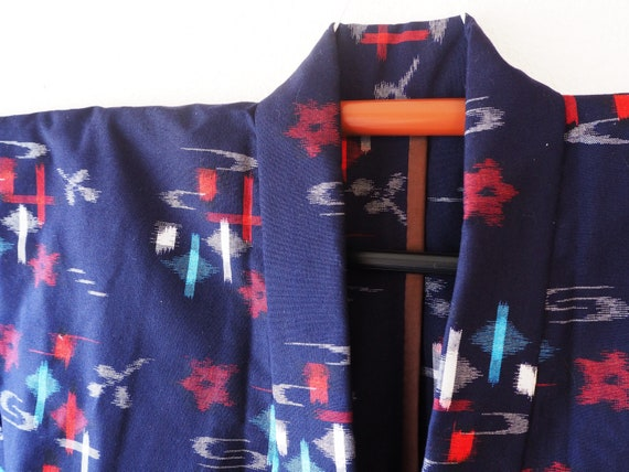 Vintage Japanese Wool Hitoe Kimono Japanese Robe