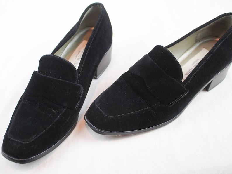 05970483dea7c 90s Size 7 Velvet Penny Loafers Vintage Jones New York Sport | Etsy