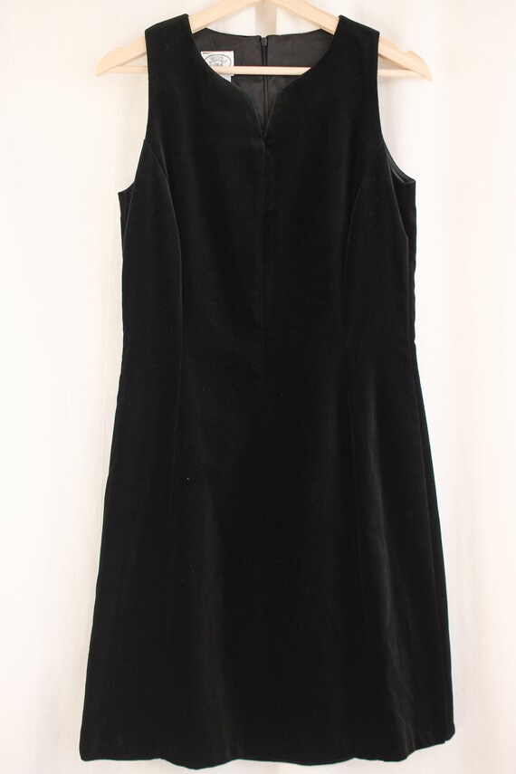 90s Laura Ashley Velvet Sheath Dress Size S   Vin… - image 4