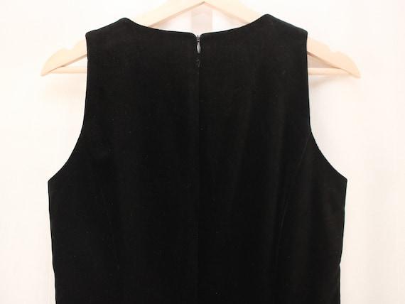 90s Laura Ashley Velvet Sheath Dress Size S   Vin… - image 3