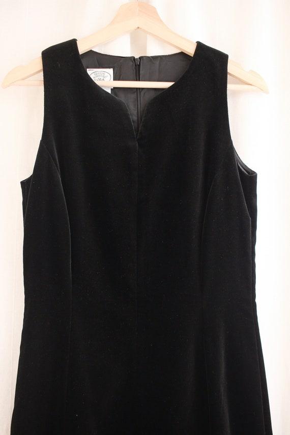 90s Laura Ashley Velvet Sheath Dress Size S   Vin… - image 5