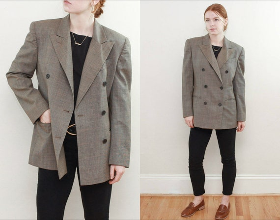 90s Ralph Lauren Dogtooth Double Breasted Tailored