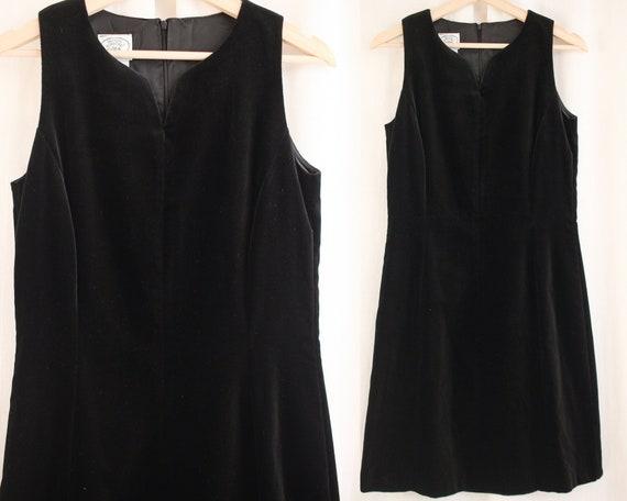 90s Laura Ashley Velvet Sheath Dress Size S   Vin… - image 1
