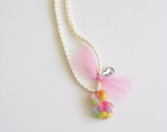 Tulle Bunny Necklace