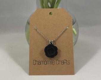 Rose Necklace Midnight Black