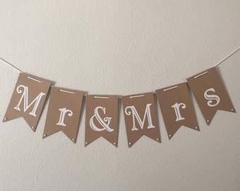 Wedding Table Banner